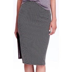 Old Navy Pencil Skirt Stretch Jupe Black White L